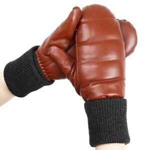 Real Sheepskin Fur Winter Gloves Full Finger Genuine Leather Women Warm Mittens