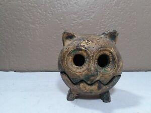 Interesting vintage cast iron? Metal, magnetic,owl incense burner