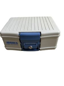 BRINKS LOCK BOX WITH KEY-HOME SECURITY SAFE-USED
