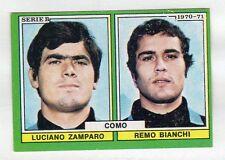 figurina CALCIATORI EDIS 1970-71 COMO ZAMPARO, BIANCHI