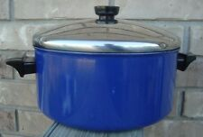 Vtg. Revere Ware 4.5 qt Aluminum Non-stick Blue Dutch Oven Spectrum series 1992