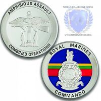 Royal Marines Memorabilia Combined Operations Silver Challenge Spoof Coin Medal