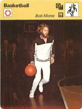 "FICHE CARD: Robert ""Bob"" Morse USA Joueur Small forward Ailier Basketball 1970s"