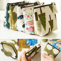 2017 New Animal Style Coin Purse Wallet Women Small Canvas Bags Pouch Zipper Bag
