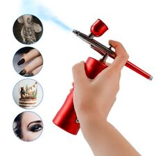 Dual Action Airbrush Compressor Kit Rechargeable Nail Art Tattoo Paint Spray Gun