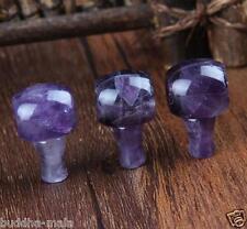 3pc Amethyst Stone Tibetan Crystal Quartz Guru Beads DIY Mala Making Stone Charm