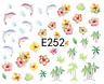 Nail Art Sticker 3D Decals Transfers Dolphins Palm Trees (E252)