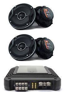 """4X JBL GTO629 6.5"""" COAXIAL SPEAKERS +JBL STAGE 4CHANNEL FULL RANGE AMPLIFIER"""