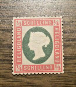 British Europe: Heligoland  Scott's  # 7  from 1873   NG  NH
