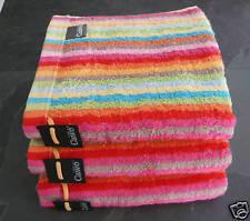 cawö 3 SERVIETTES Lifestyle rayures multicolores. RAYURES COLORÉES, 100% coton