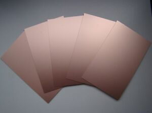 5x S/S SRBP Copper Clad Board Low-Cost PCB 160x100MM