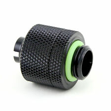 Quality Water Cooling Compression Fitting For 1/2 ID 3/4 OD Tube G1/4 Matt Black