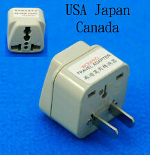 Universal UK AUS USA Euro to Japan USA Canada Travel Adaptor AC Power Plug New