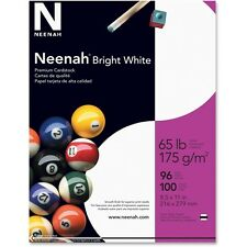 "Wausau Cardstock Paper 65 lb. 8-1/2""x11"" 100/PK White 91901"