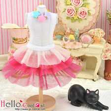 ☆╮Cool Cat╭☆169.【PD-03】Blythe Pullip Tulle Cake Skirt # Multi-Colored Deep Pink