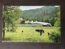 """Passenger Train The """"Goose"""" Oregon Forests Cottage Grove, OR Vintage Postcard"""