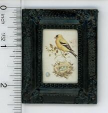 Dollhouse Miniature 1:12 Print of a Vintage Yellow Bird Illustration Plate