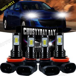 For 2010 2011 2012 2013 MAZDA 3 - 4X 6000K LED Headlight Bulbs High Low Beam Kit