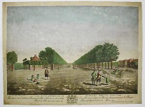 de Foisse Promenade Hambourg Stein-Thor 1785 Kupferstich Guckkastenblatt Hamburg