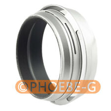 49mm Silver Lens Adapter Ring + Lens Hood for Fujifilm Fuji X100 Replace LH-X100