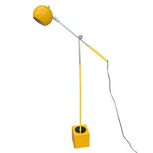 Mid-Century Modern Yellow Enamel Eyeball Orb Floor Lamp by Robert Sonneman