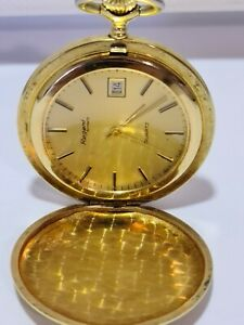 VergoldeteTaschenuhr #Regent # Quartz, mit Datum