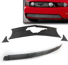 2010-2012 FORD MUSTANG GT V8 FRONT UPPER+LOWER BUMPER BILLET GRILLE GRILL INSERT