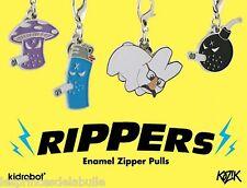 x1 Blind Box CHARMS RIPPERS Zipper-Pulls Enamel Métal by KIDROBOT & KOZIK Labbit