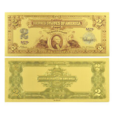 1899 $2 Washington Note -  Uncirculated Gold Foil