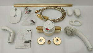 Mira 415 EV Gold and White Shower New Free Postage