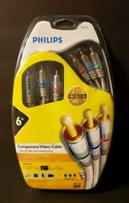 Philips Gold Series 6 Ft. M62795 Component Video Cable 24kt Gold Video Cable New