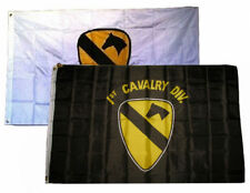 3x5 3'x5' Wholesale Combo 1st Black & White Cavalry Division 2 Flags Flag