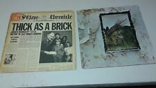 Vinyl Records Jethro Tull Thick as a Brick/Led Zeppelin self titled