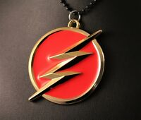 DC Comics The Flash Logo Pendant Chain/Necklace w/Free Jewelry Box and Shipping
