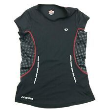 Pearl Izumi P.R.O. Series V-neck Dry Fit Shirt Size M Medium Black 3M Reflective