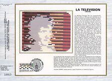 FEUILLET CEF / DOCUMENT PHILATELIQUE / LA TELEVISION 1985 PARIS