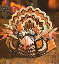 Turkey Centerpiece Thanksgiving Plastic Canvas Pattern Instructions