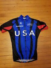 Womens cycling jersey xs USA short sleeve front full zip  back triple pocket