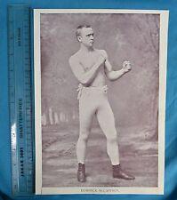 Original 1894 Antique print Portrait Gallery of pugilists Dom. McCAFFREY Boxer
