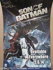 Son of Batman cast auto movie poster Jason O'Mara Xander Berkeley Sean Maher COA