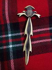 TC nueva escocés Incrustaciones Cardo En Forma BROCHE DE KILT/pin para falda