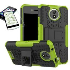 Hibrido Funda Estuche 2 piezas verde para Motorola Moto C Plus + H9