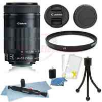 Canon EF-S 55-250mm f/4-5.6 IS STM Lens Kit w/ UV Filter  Cleaner and More