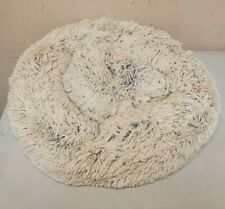 """Donut Dog Bed for Small Dogs Medium Bed Soft Fuzzy 22""""x22""""x5"""" Used"""