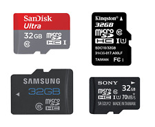 Authentique SANDISK Kingston Samsung Sony Transcend 32 Go Micro SD TF carte mémoire