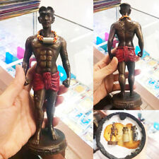 """HOON PAYON Statue LP Chaiya Thai Amulet Luck Rich Wealth Protect For Bucha 8.5"""""""