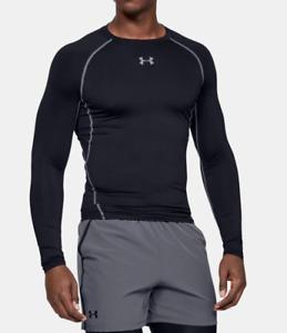 Under Armour Mens HeatGear Long Sleeve Compression Shirt XL Black