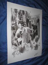 UNIVERSAL MONSTERS Signed Sideshow Art Print Alex Ross ~Bride of Frankenstein