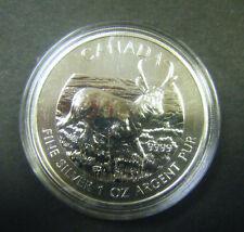 2013 Canada $5 Antelope Wild Life series 1oz .9999 Fine Silver Bullion Coin