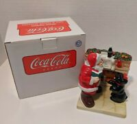 Coca Cola Holiday Portraits Salt & Pepper Shakers Santa & Dog Christmas New